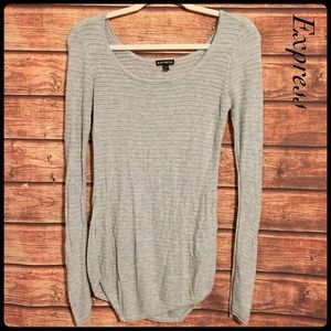 Express gray open knit sweater